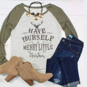 Tops - Have Yourself a Merry Little Christmas Shirt NWOT